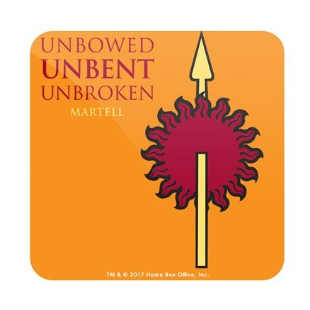 Unbowed Unbent Unbroken - Game Of Thrones Official Coaster