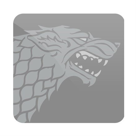 House Stark Tonal Sigil - Game Of Thrones Official Coaster