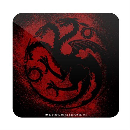 House Targaryen Sigil Splatter - Game Of Thrones Official Coaster
