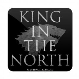 King In the North: Black - Game Of Thrones Official Coaster