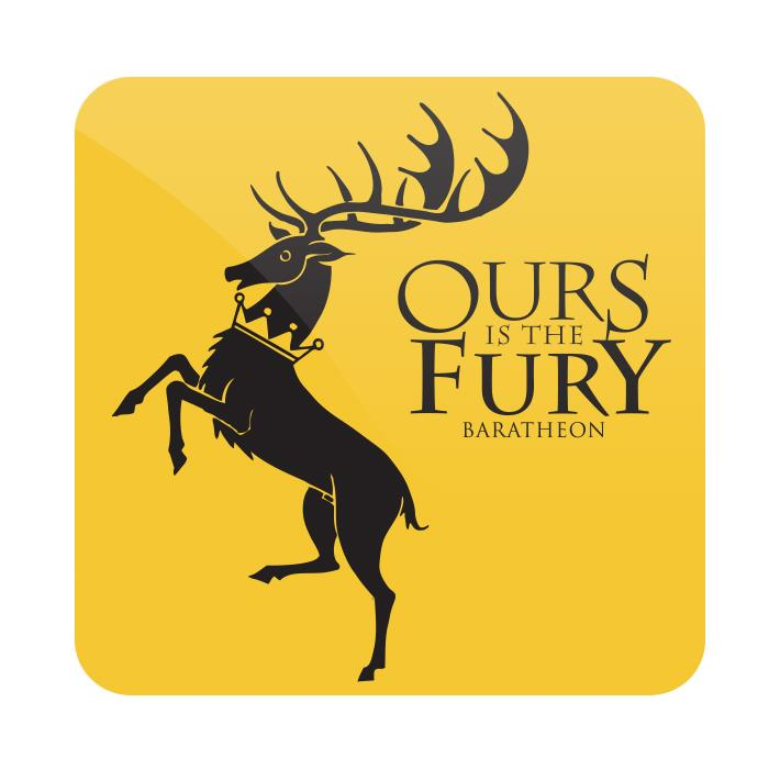 Ours Is The Fury - Game Of Thrones Official Coaster
