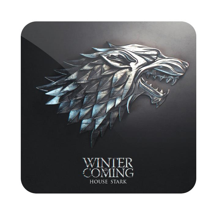 House Stark Metallic Sigil - Game Of Thrones Official Coaster