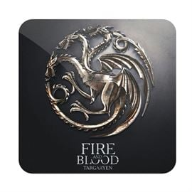 House Targaryen Metallic Sigil - Game Of Thrones Official Coaster