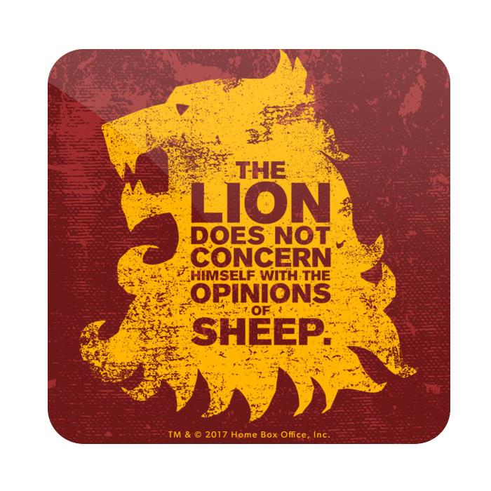 The Lion And The Sheep - Game Of Thrones Official Coaster