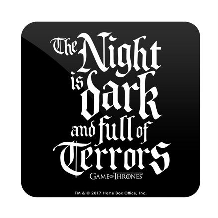 The Night Is Dark: Black - Game Of Thrones Official Coaster