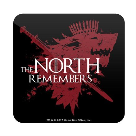 The North Remembers: Black - Game Of Thrones Official Coaster