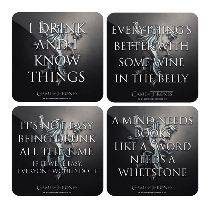 Tyrion Quote Set- Game Of Thrones Official Coasters