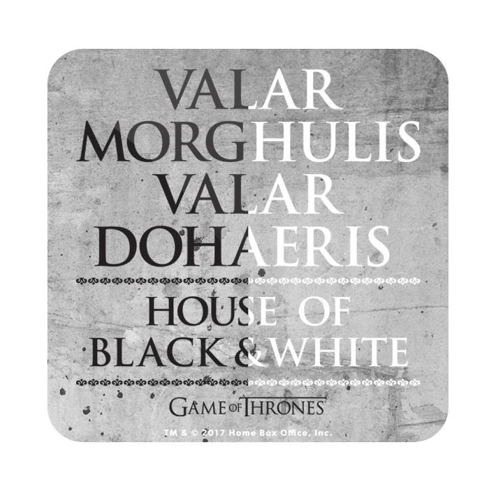 Valar Morghulis - Game Of Thrones Official Coaster