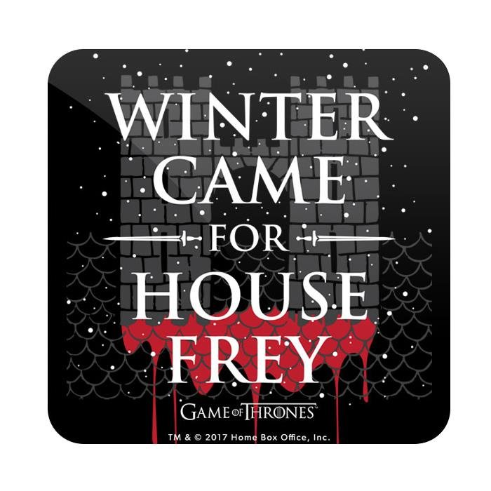 Winter Came For House Frey - Game Of Thrones Official Coaster