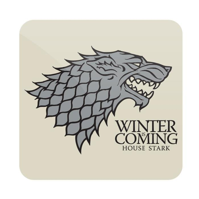 Winter Is Coming - Game Of Thrones Official Coaster