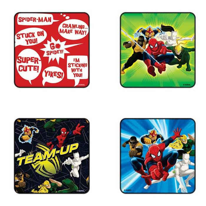 Spiderman Team Up - Pack Of 4 Official Spiderman Coasters