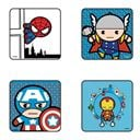 Kawaii Avengers - Pack Of 4 Official Avengers Coasters