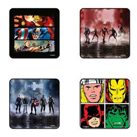 Avengers Team - Pack Of 4 Official Avengers Coasters