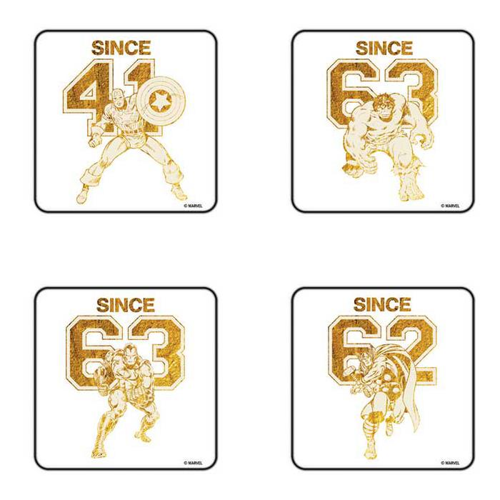 Team Avengers - Pack Of 4 Official Avengers Coasters