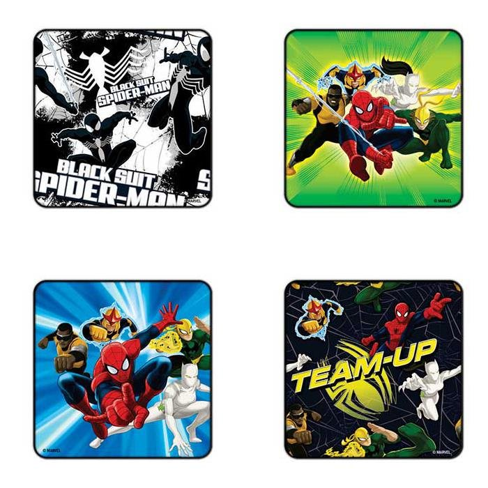 Spiderman Team - Pack Of 4 Official Spiderman Coasters