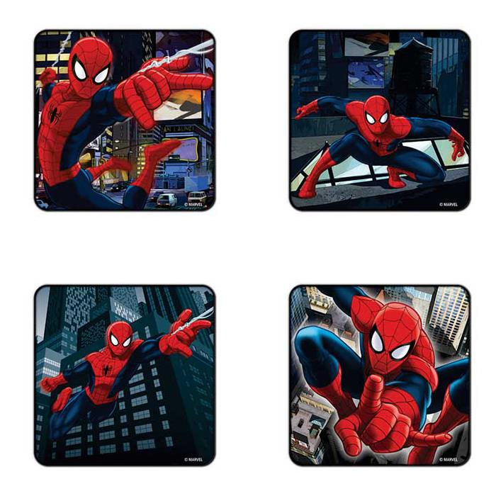 Spiderman - Pack Of 4 Official Spiderman Coasters
