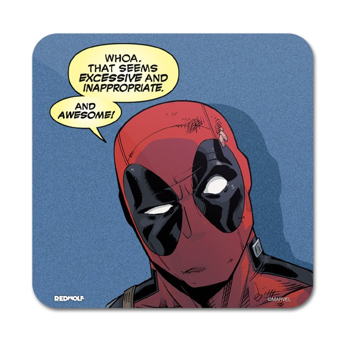 Inappropriate And Awesome - Marvel Official Coaster