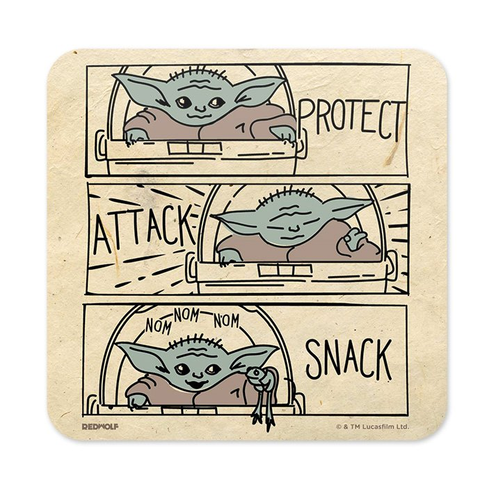 Protect, Attack, Snack - Star Wars Official Coaster