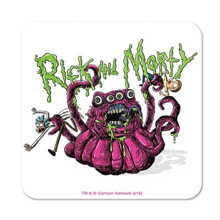 Four Eyed Monster - Rick And Morty Official Coaster