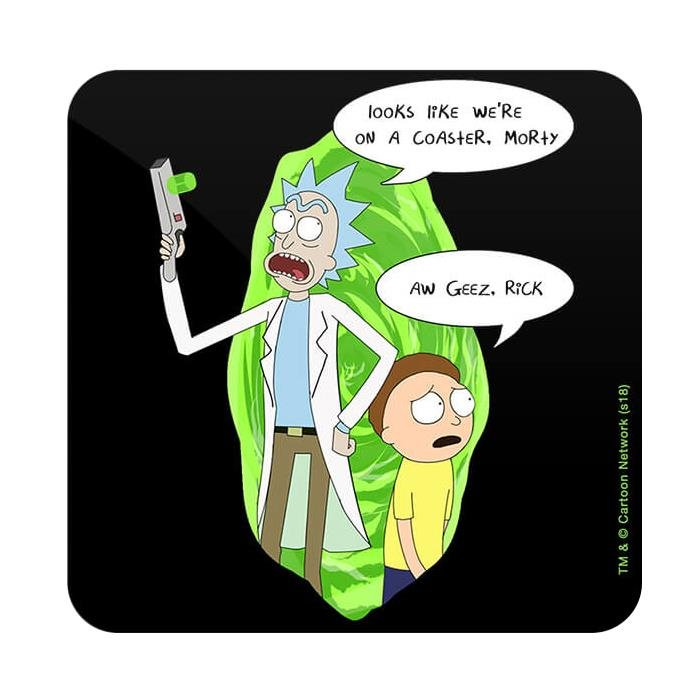 Looks Like We Are On A Coaster - Rick And Morty Official Coaster