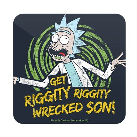Get Wrecked - Rick And Morty Official Coaster