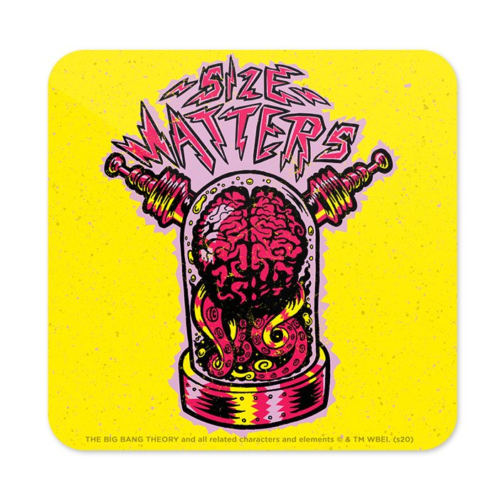 Size Matters - The Big Bang Theory Official Coaster