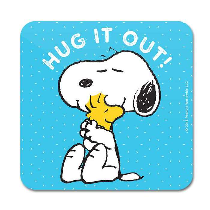 Hug It Out - Peanuts Official Coaster