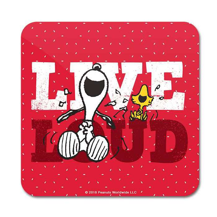 Live Loud - Peanuts Official Coaster