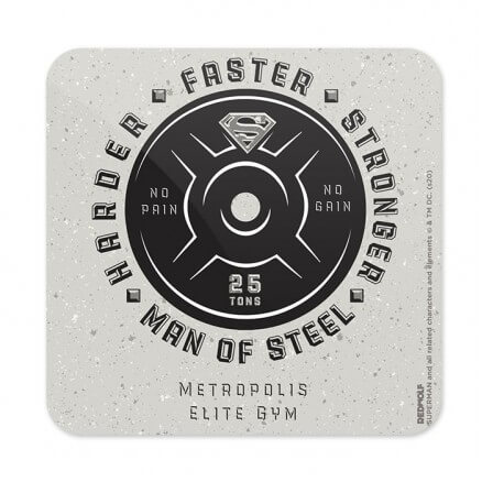 Harder. Faster. Stronger - Superman Official Coaster