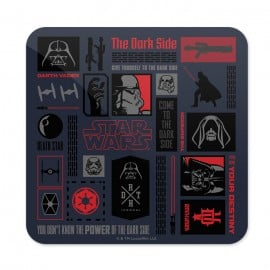 The Dark Side Infographic - Star Wars Official Coaster
