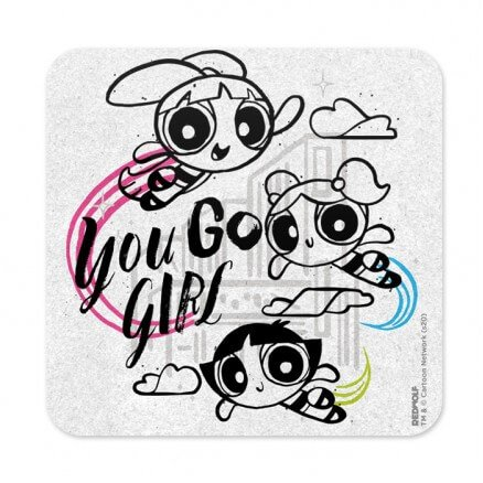 You Go Girl - The Powerpuff Girls Official Coaster