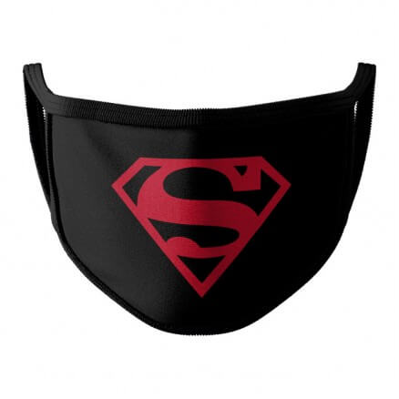Black Superman Logo - Superman Official Face Mask