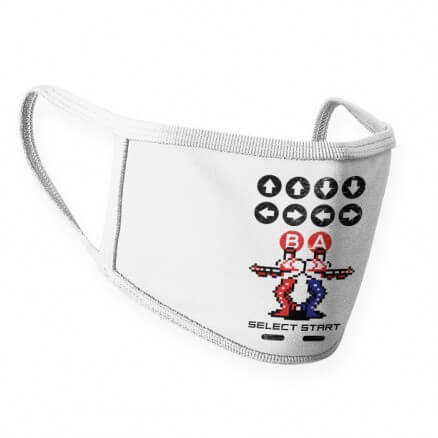 Contra Cheat Code - Face Mask