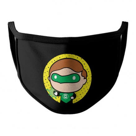 Green Lantern Chibi - Green Lantern Official Face Mask