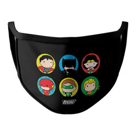 Justice League: Chibi - Justice League Official Face Mask