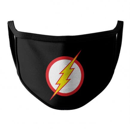 The Flash Logo - The Flash Official Face Mask