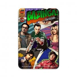 Bazinga Comic - The Big Bang Theory Official Fridge Magnet