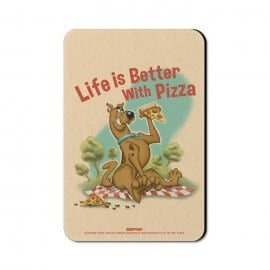 Better With Pizza - Scooby Doo Official Fridge Magnet