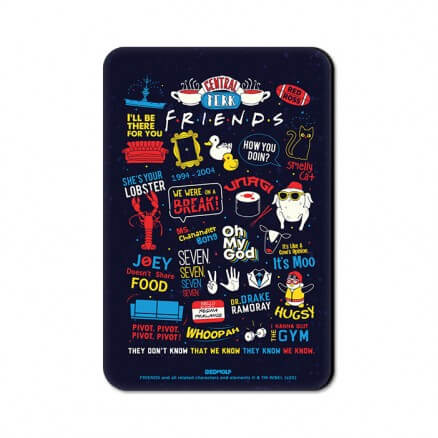 F.R.I.E.N.D.S Infographics - Friends Official Fridge Magnet