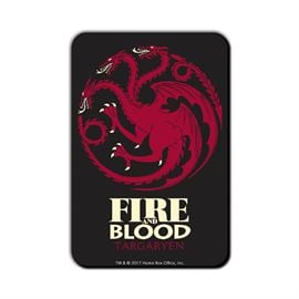 Fire and Blood - Game Of Thrones Official Fridge Magnet