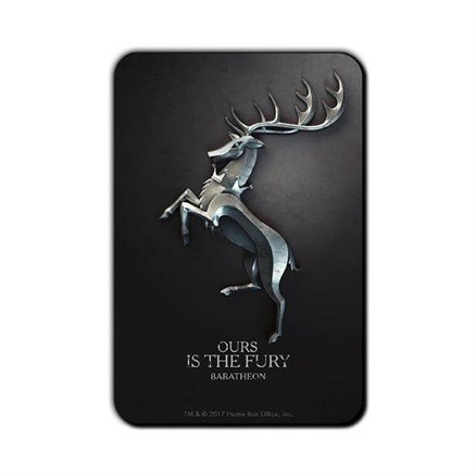 House Baratheon Metallic Sigil - Game Of Thrones Official Fridge Magnet