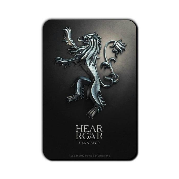 House Lannister Metallic Sigil - Game Of Thrones Official Fridge Magnet
