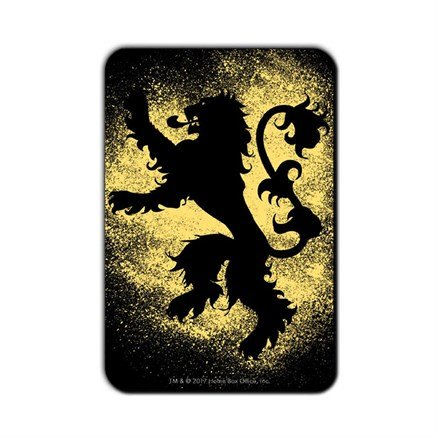 House Lannister Sigil Splatter - Game Of Thrones Official Fridge Magnet