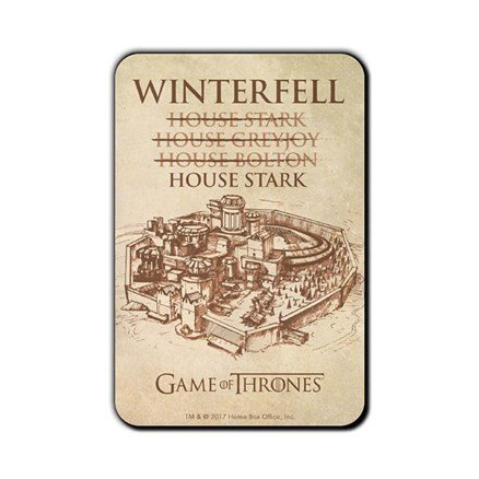 House Of Winterfell - Game Of Thrones Official Fridge Magnet