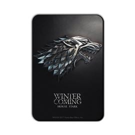 House Stark Metallic Sigil - Game Of Thrones Official Fridge Magnet