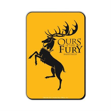 Ours Is The Fury - Game Of Thrones Official Fridge Magnet