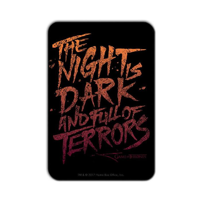 The Night Is Dark And Full Of Terrors - Game Of Thrones Official Fridge Magnet