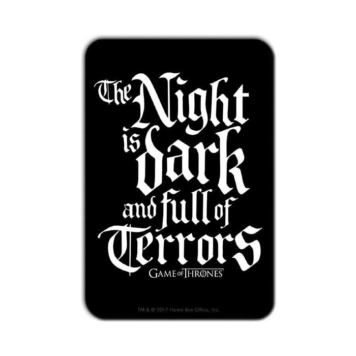 The Night Is Dark: Black - Game Of Thrones Official Fridge Magnet