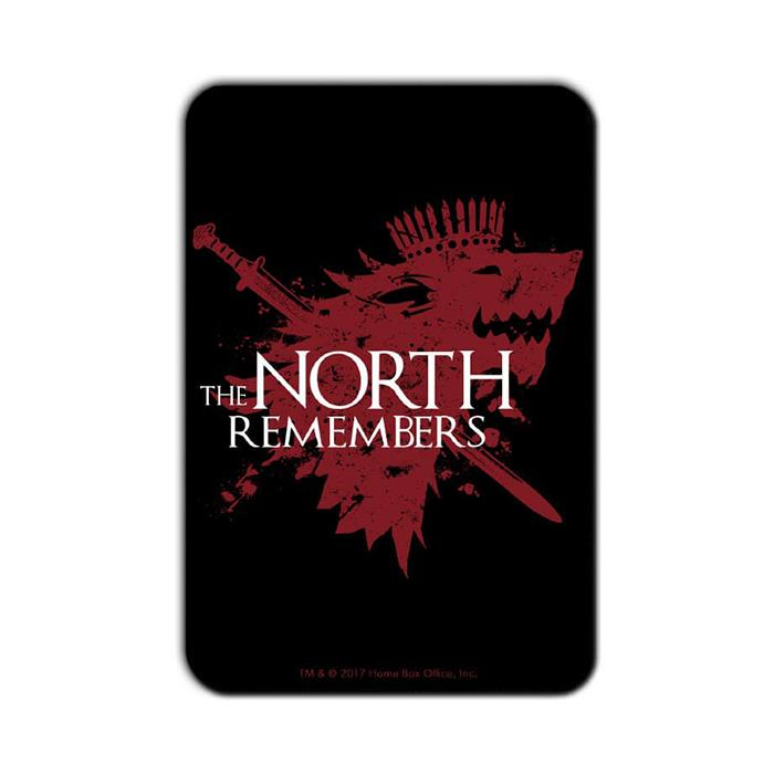 The North Remembers: Black - Game Of Thrones Official Fridge Magnet