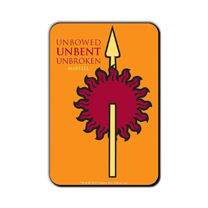 Unbowed Unbent Unbroken - Game Of Thrones Official Fridge Magnet